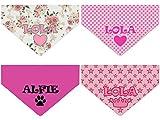 Personalisierte rosa Dog Bandanas Hunde neckerchiefs mit Namen für Mädchen