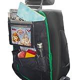 Protège siège pour enfant - organisateurs de voiture   MY carcaddy TO go   protection arrière de siege auto avec support tablette i-PAD   empêche les éraflures et les détériorations   NOIR/VERT