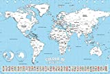 empireposter 738820 World Map - Mapa del Mundo para Colorear - Colour en - Ausmal Impresión Póster, Papel, 91,5 x 61 x 0,14 cm