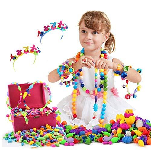 ⚡ YZWJ Pop Perlen, Spielzeug für 3~10 Jahre Alte Mädchen Weihnachten Geburtstag Geschenke 600 stücke Snap Pop Perlen In Schmuckschatulle 04.18 (Geschenke Alten Jahre Für Zehn Mädchen)