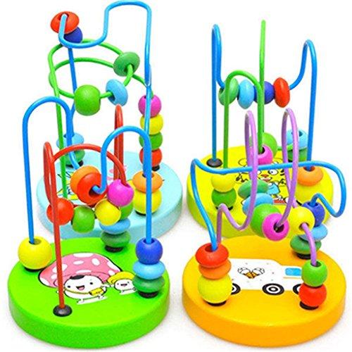 LCsndice Baby-Kind-pädagogisches Spielzeug-zufälliges hölzernes Korn-Spiel-Spielzeug-Geschenk