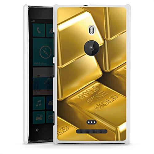 DeinDesign Nokia Lumia 925 Hülle Schutz Hard Case Cover Goldbarren Gold Barren