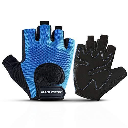 Gewichtheben/Tactical Handschuhe/Half-Finger-Handschuhe/Riding Handschuhe Touch Screen Windproof Warm Rubber Breathable Fitness Riding Mountaineering,Blue,M