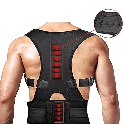 PAWACA Magnetische Körperhaltung Korrektor-Rückenstütze, Einstellbare Magnetische Körperhaltung Korrektor Korsett Gurtstraffer Brace Schulter, Entlasten Rückenschmerzen Für Männer Und Frauen