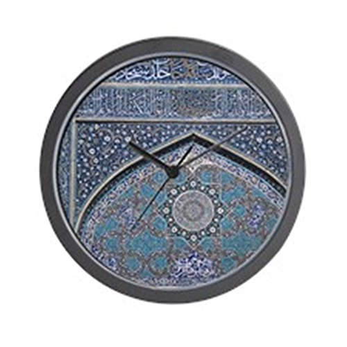 "CafePress - Intricate Persian Mosaics, Mosque Detai - Unique Decorative 10"" Wall Clock"