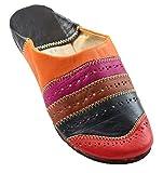 ChiCies Orientalische Schuhe Babouche Hausschuhe Pantoffel Slipper Aus Marokko - Damen Hausschuhe Aus Leder-Brokat, Handarbeit Aus Fes (39, Mehrfarbig)