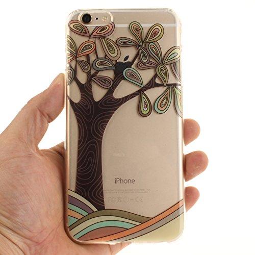 Voguecase® für Apple iPhone 7 Plus 5.5 hülle, Schutzhülle / Case / Cover / Hülle / TPU Gel Skin (Pflaumen 16) + Gratis Universal Eingabestift Abstrakte Baum