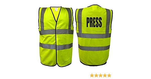 Press Hi Vis VestHigh Visibility Media Event Photographer Viz EN471 0346