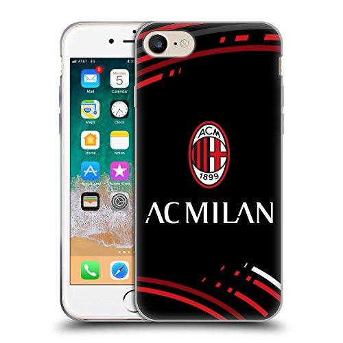Head Case Designs Ufficiale AC Milan Curvato 2018/19 Modelli Cresta Cover Morbida in Gel per iPhone 7 / iPhone 8