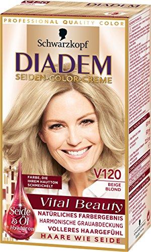Diadem Seiden-Color-Creme V120 Beige Blond Vital Beauty, 3er Pack (3 x 142 ml)