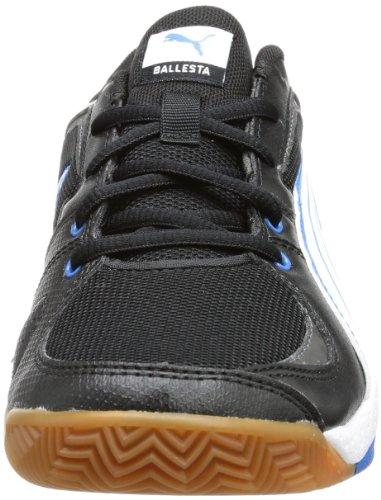 Puma Ballesta Jr Unisex-Kinder Hallenschuhe Schwarz (black-white-brilliant blue 02)