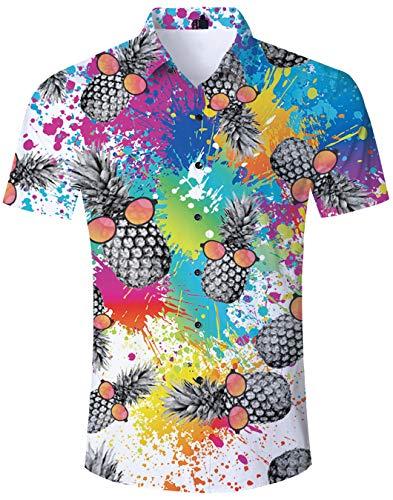 Sommer Freizeithemd Herren Hemden Unisex Casual 3D Print Tier Kurzarm T-Shirt Grafik T-Shirts M - Grafik Shirt