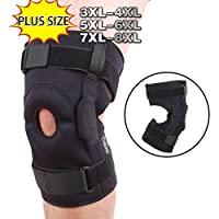 DISUPPO Knee Brace for Plus Size, Wrap Around to Fit Large Legs, Adjustable Stabilizer Provide Strong Support for Pain Relief, ACL, MCL, Meniscus Tear, Arthritis and Athletes