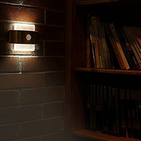 Motion Sensor Light, LOFTer Stick-on 14 LED Motion Activated Battery Powered Lighting Auto and Instant ON/OFF Mode for Driveway, Stairs, Hallway, Pathway, Corridor, Aisle