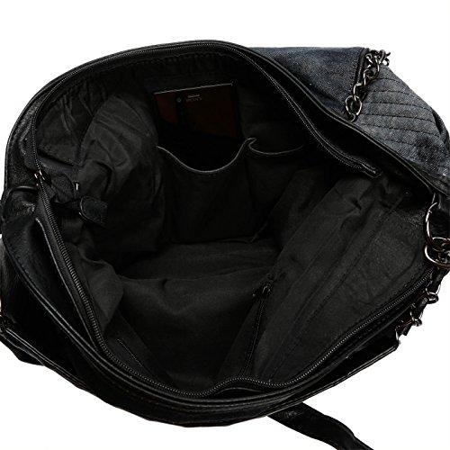 Christian Wippermann®, Borsa a spalla donna Nero nero 46x33x17 cm nero