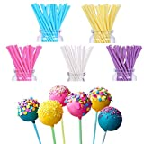 FiYenn 100 X Cake Pop Sticks 15 cm, colori pastello, Kitchenaid Craft, Carta Steli per torta - 5 colori