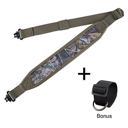 BOOSTEADY Gewehr Gurt mit Mil-Spec-Wirbel, Haltbare Schulterpolsterung Gun Riemen, Metall-Hardware Länge Adjuster -