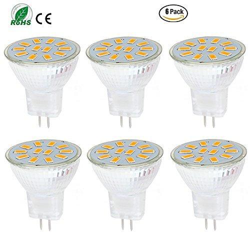 ei-home 6Stück warm weiß 5733–12SMD MR11GU4LED Leuchtmittel, AC/DC 10–30V & #-; 3W, 15–20W Halogen Lampe Ersatz, LED Leuchtmittel für Hause Beleuchtung, Display LIGHTLING, RV Beleuchtung (nicht dimmbar)