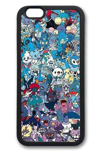 Coque silicone BUMPER souple IPHONE 6/6s + PLUS - GO pokemon pikachu team CASE tpu DESIGN + Film de protection INCLUS 4