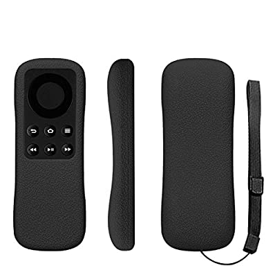 MaxKu Fire TV Stick with Alexa Voice Remote Case, Full Range Protection High Quality Thin Shock Absorption TPU Case Cover for Fire TV Stick with Alexa Voice Remote (Black)