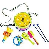 Giocattolo educativo per bambini, set di strumenti musicali per strumenti musicali a tamburo, set di 5