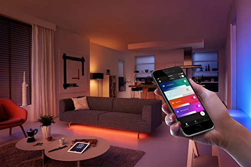 Philips Hue LED Lampe E27 Starter Set inklusive Bridge, 3. Generation, 3-er Set, dimmbar, 16 Mio Farben, app-gesteuert - 11