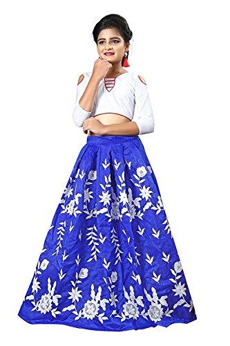 Leons Fab New Designer Multi Color Girls Semi Stitched Party Wear Kids...
