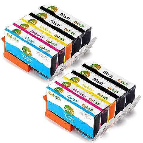 Gohepi 364XL Compatible pour Cartouches HP 364XL 364, 4 Noir/2