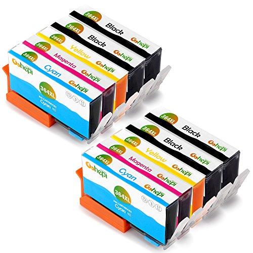 Gohepi 364XL Compatible pour Cartouches HP 364XL 364, 4 Noir/2 Cyan/2 Magenta/2 Jaune Pack de 10 Travailler avec HP Photosmart 5520 6520 5510 7520 5524 7510 6510 5515 5514 5511 5522 B010 B109a B110, HP Photosmart Premium C309 C310 C410 C410b B8550 B8850, HP Officejet 4620 4622 4610, HP Deskjet 3070A 3520 3521 3522 3524