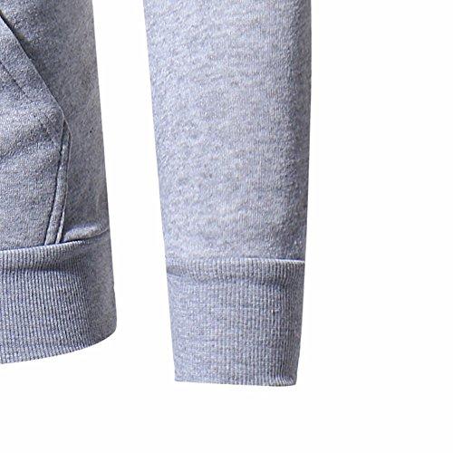 Preisvergleich Produktbild TianWlio Hoodie Mode Herren Herbst Winter Herren Slim Designed Kapuzenoberteil Strickjacke Mantel Jacken Outwear Grau M