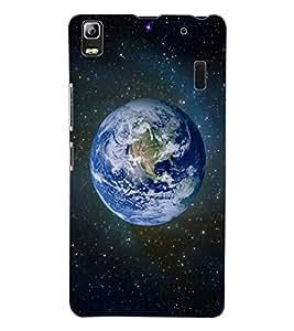 ColourCraft Earth Design Back Case Cover for LENOVO A7000