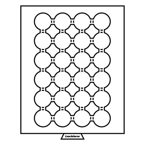 Leuchtturm 301417 MB Münzbox für Kapseln mit Innendurchmesser: 34 + 35 mm Ø | Für 100 Peseten, 50 OES-Gedenkmünzen | Rauchfarben -