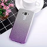 EINFFHO Coque ASUS Zenfone 3 ZE552KL, 2 in 1 Design créatif Luxe Gradient Glitter...