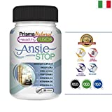 ANSIESTOP - Con Triptofano, Passiflora, Luppolo, Verbena e Vitamine B1, B3 e B6 - Combatte i sintomi dell'ansia e lo stress - Finisce con il nervosismo e facilita il riposo - 30 capsule