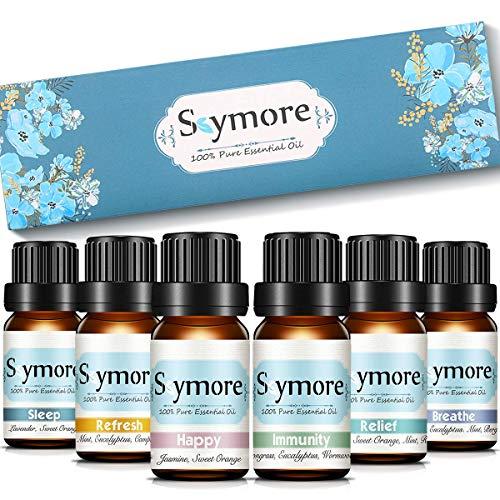 Skymore Ätherische Öle Set, Reine Duftöle Geschenk Set, Naturrein Essential Oils für Diffuser /Duftlampen Geeignet -