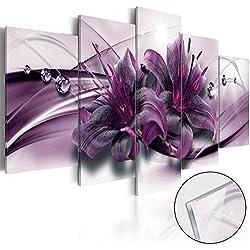 murando - Cuadro de cristal acrílico 200x100 cm - Cuadro de acrílico - Impresion en calidad fotografica - Flores Abstración b-C-0155-k-o
