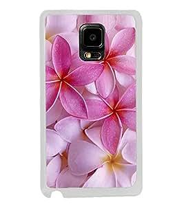 Pink Flower 2D Hard Polycarbonate Designer Back Case Cover for Samsung Galaxy Note 4 :: Samsung Galaxy Note 4 N910G :: Samsung Galaxy Note 4 N910F N910K/N910L/N910S N910C N910FD N910FQ N910H N910G N910U N910W8