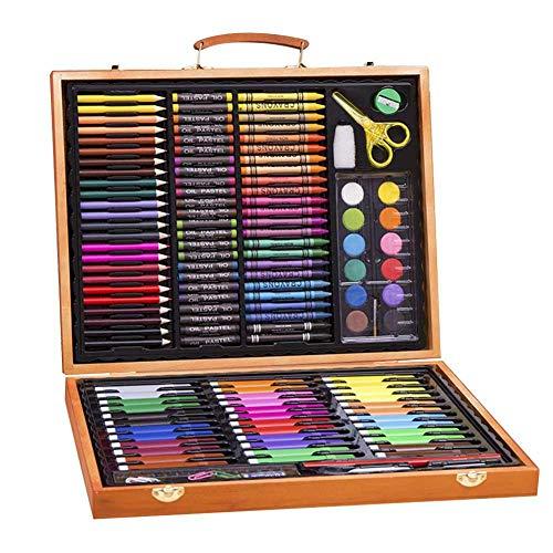 Sets de Dessin,Malette de Coloriage Enfants Aquarelle Crayon Enfants Dessin Artiste Kit Crayons de Couleur Ensemble Crayon Peinture À L'huile Pinceau Outil De Dessin Cadeau 150Pcs par Futurepast