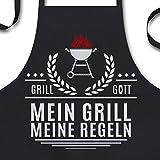 YORA Grillschürze für Männer lustig - Mein Grill Meine Regeln - Perfektes Grillzubehör Männer Geschenk