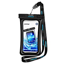 """Mpow Floatable Waterproof Case, IPX8 Underwater Phone Case Dry Bag waterproof Phone Pouch for iPhone XS/XS Max/XR/X Galaxy S10/S9/S8 Google Pixel up to 6.5"""" Perfect for Beach, Hiking, Travel Black"""