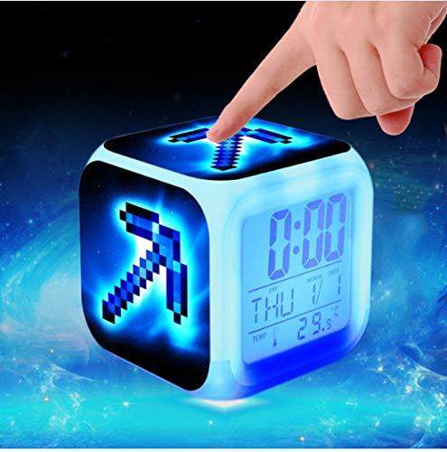 ZHONGQIAN Alarm Clock Super Mario Digital Kids Pokemon