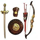 #3: Halo Nation Bahubali Warrior Set - Knights Fancy Dress Kids Cosplay - King's Sword, Sheild, Hand Armor , Bow & 3 Arrows