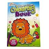 A4 enfants 'Super-Duper' Grand Livre de Coloriage - 80 pages - Reliure Parfaite - Taille - 297mm x 210mm