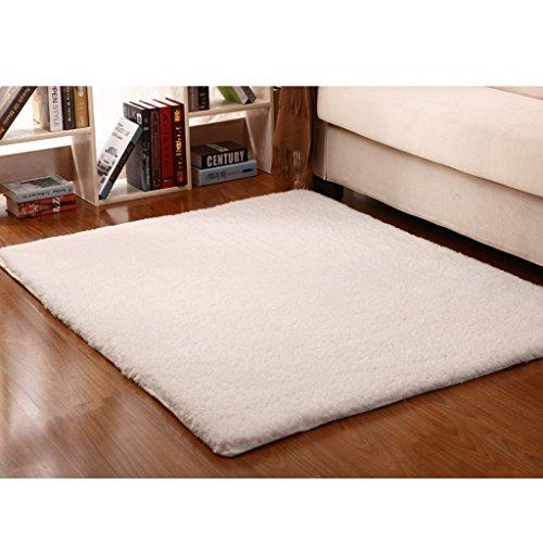 GBBD Verdickte Lammfell, Schlafzimmer Bettvorleger, Küche Teppich, Bad Teppich ( farbe : Weiß )