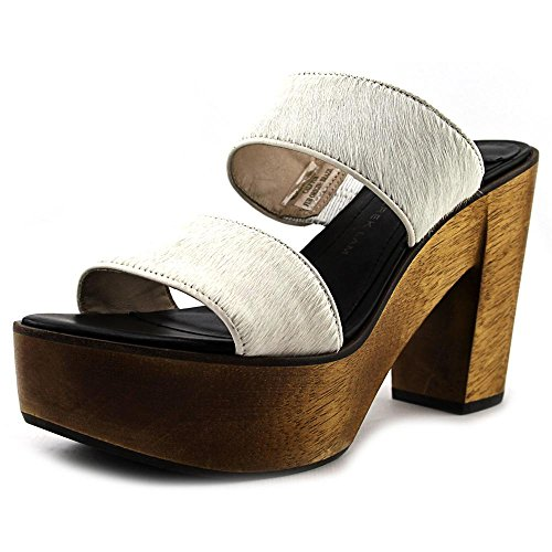 Derek Lam Luanda Too Cuir Talons Compensés Brown Wood