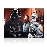 Boba Fett And Darth Vader Signed Star Wars Photo