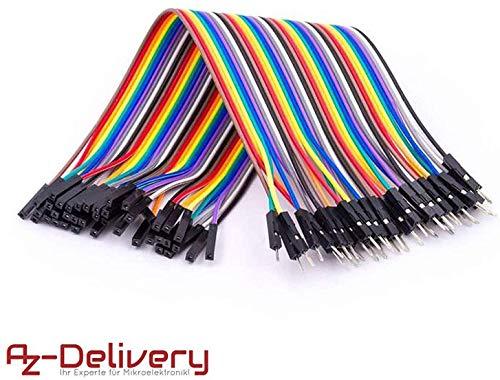 AZDelivery Jumper Wire Kabel 40 STK. je 20 cm F2M Female to Male für Arduino und Raspberry Pi Breadboard -