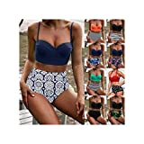 Photo de Women High Waist Bikinis Swimwear Swimuit Female Retro Beachewear Bikini Set par FJLOKE&