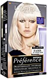 L'Oréal Paris Préférence Coloration Plantinperlmuttblond 10.21, 3er Pack (3 x 1 Colorationsset)