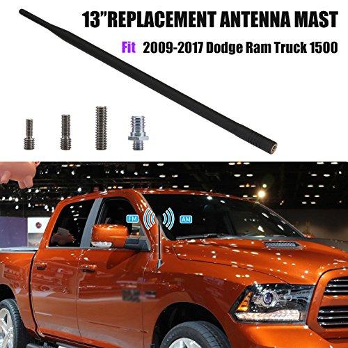 sengear 33cm Auto-Antenne AM FM RADIO Signal Empfang Mast schwarz Ersatz für 2009–2017RAM Truck 1500 (Ram 1500 Zubehör 2014)
